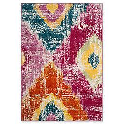 "Safavieh Watercolor 6'7"" x 9' Perna Rug in Fuchsia"