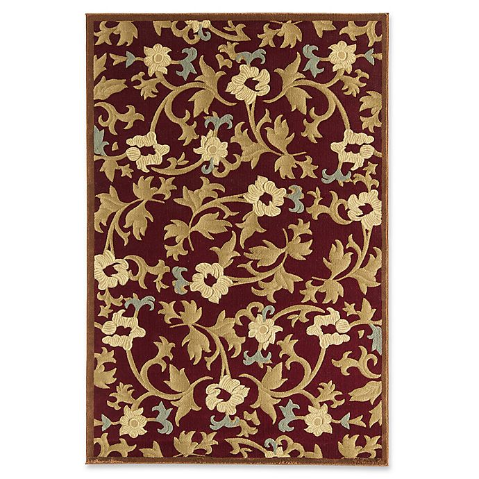 Alternate image 1 for Rugs America Torino Bouquet 3'11 x 5'3 Area Rug in Red