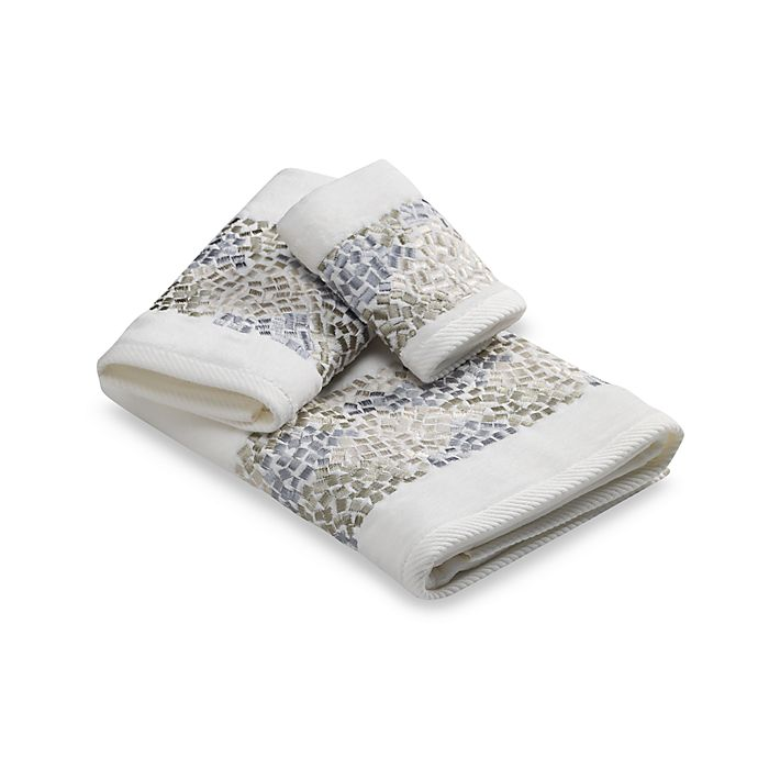 Croscill Hand Towels: Croscill® Spa Tile Fingertip Towel