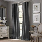Valeron Estate Cotton Linen 84-Inch Rod Pocket Window Curtain Panel in Charcoal