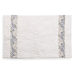 Croscill® Spa Tile 30-Inch x 20-Inch Bath Rug in White
