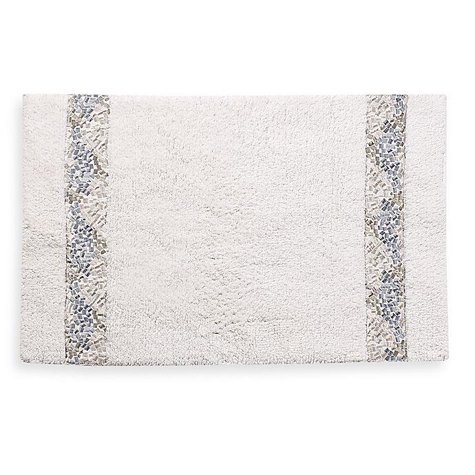Alternate image 1 for Croscill® Spa Tile 30-Inch x 20-Inch Bath Rug in White