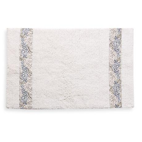 Croscill 174 Spa Tile 30 Inch X 20 Inch Bath Rug In White