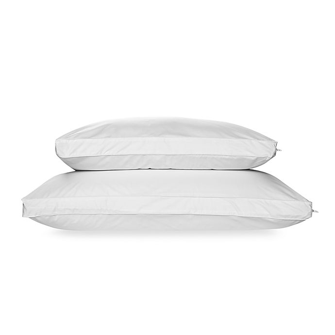 Alternate image 1 for I Can't Believe This Isn't Down Pillow Protector in White