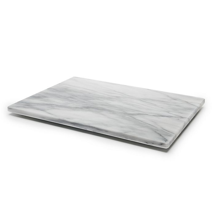 Alternate image 1 for Fox Run® Marble Pastry Board in White/Grey