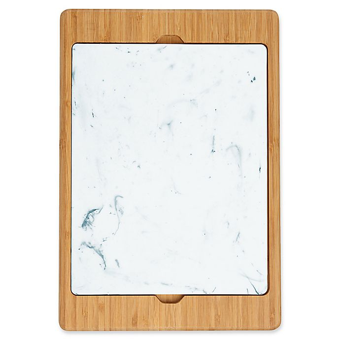 Alternate image 1 for Dexas® Mixx™ Polymarble™ & Bamboo 2-Piece Cutting Board Set