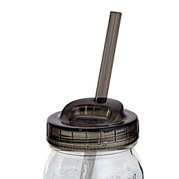 Ball® 4-Piece Mason Jar Sip N Straw Lids Set in Smoke Grey