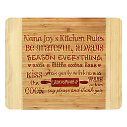 Stamp Out Kitchen Rules 11-Inch x 14-Inch Bamboo Cutting Board
