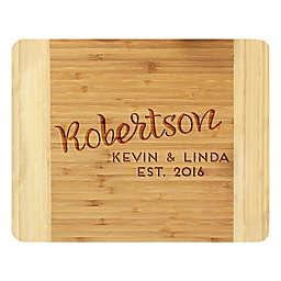 Stamp Out Cursive Name 14-Inch x 11-Inch Bamboo Cutting Board