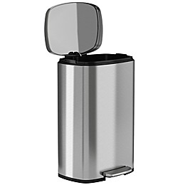 halo™ Premium 50-Liter Stainless Steel Step Trash Can