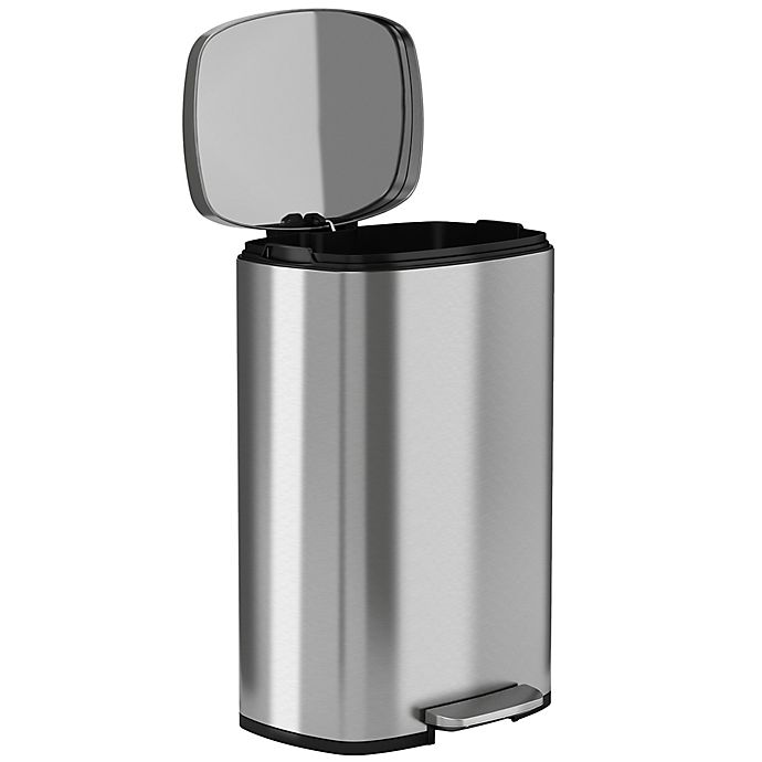Alternate image 1 for halo™ Premium 50-Liter Stainless Steel Step Trash Can
