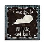 Thirstystone® Kentucky & Black Single Coaster