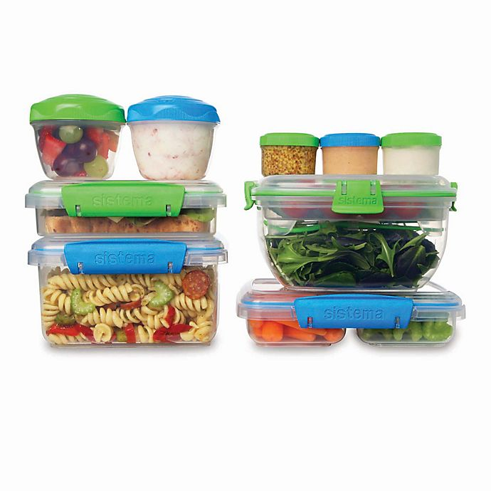 Alternate image 1 for Sistema® 18-Piece KLIP IT™ Accents Food Storage Containers Set