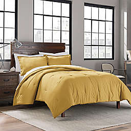 Garment Washed Solid Comforter Set