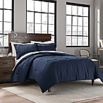Garment Washed Solid Twin/Twin XL Comforter Set in Navy