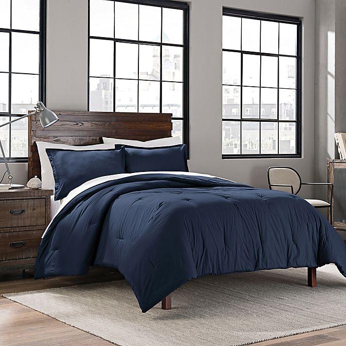 Alternate image 1 for Garment Washed Solid Comforter Set