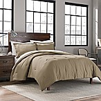 Garment Washed Solid Full/Queen Comforter Set in Taupe