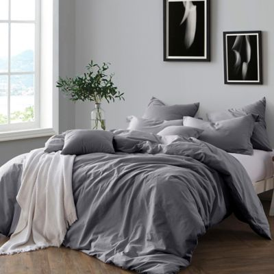 Duvet Covers.Swift Home Prewashed Yarn Dyed Cotton Duvet Cover Set