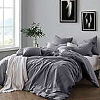 Swift Home Prewashed Yarn-Dyed Cotton King Duvet Cover Set in Grey