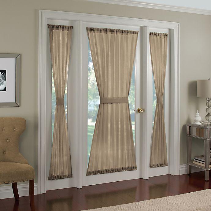 Crushed Voile Rod Pocket Door Panel And Side Light Panel