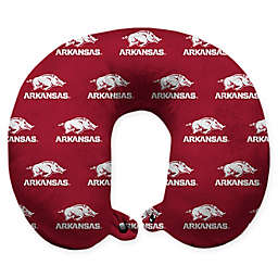 University of Arkansas U-Neck Travel Pillow with Snap Closure