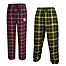 Part of the Collegiate Men's Flannel Plaid Pajama Pant with Left Leg Team Logo