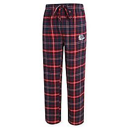 Gonzaga University Men's Flannel Plaid Pajama Pant with Left Leg Team Logo