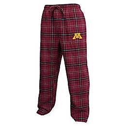 University of Minnesota Men's Flannel Plaid Pajama Pant with Left Leg Team Logo