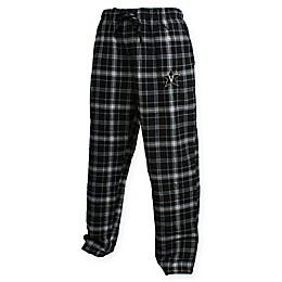 Vanderbilt University Men's Flannel Plaid Pajama Pant with Left Leg Team Logo