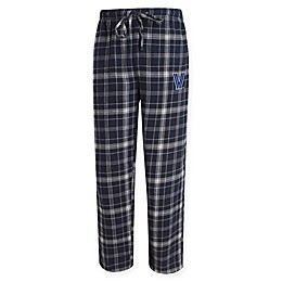 Villanova University Men's Flannel Plaid Pajama Pant with Left Leg Team Logo