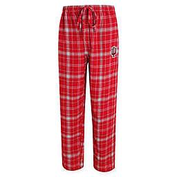 Indiana University Men's Flannel Plaid Pajama Pant with Left Leg Team Logo