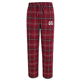 Mississippi State University Men's Flannel Plaid Pajama Pant with Left Leg Team Logo