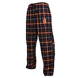 Syracuse University Men's Flannel Plaid Pajama Pant with Left Leg Team Logo