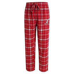 University of Alabama Men's Flannel Plaid Pajama Pant with Left Leg Team Logo