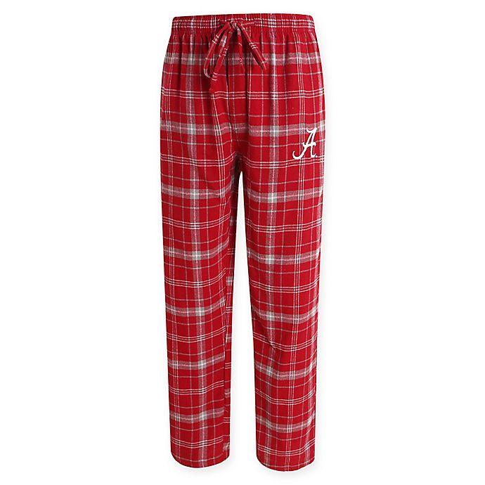 Alternate image 1 for University of Alabama Men's Large Flannel Plaid Pajama Pant with Left Leg Team Logo
