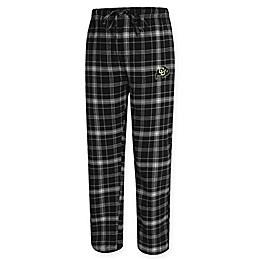 University of Colorado Men's Flannel Plaid Pajama Pant with Left Leg Team Logo