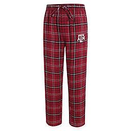 Texas A&M University Men's Medium Flannel Plaid Pajama Pant with Left Leg Team Logo