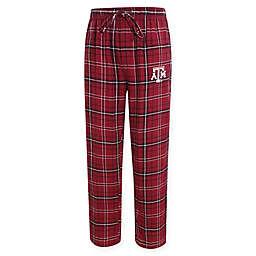 Texas A&M University Men's 2XL Flannel Plaid Pajama Pant with Left Leg Team Logo