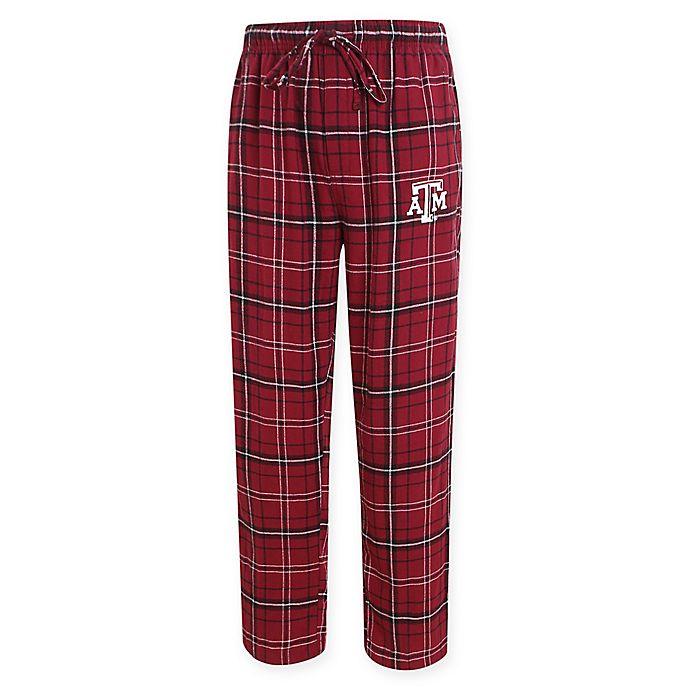 Alternate image 1 for Texas A&M University Men's Flannel Plaid Pajama Pant with Left Leg Team Logo