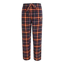 University of Virginia Men's 2XL Flannel Plaid Pajama Pant with Left Leg Team Logo