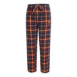 University of Virginia Men's Small Flannel Plaid Pajama Pant with Left Leg Team Logo