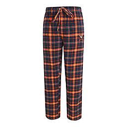 University of Virginia Men's Medium Flannel Plaid Pajama Pant with Left Leg Team Logo