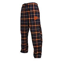 Clemson University Men's Flannel Plaid Pajama Pant with Left Leg Team Logo