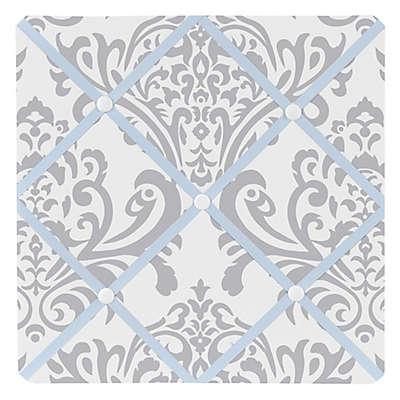 Sweet Jojo Designs Avery Fabric Memo Board in Blue and Grey