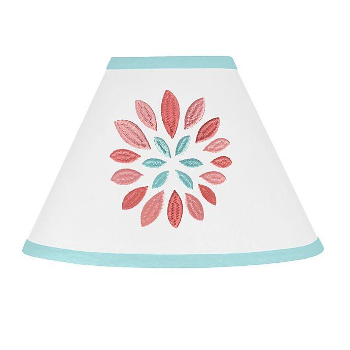 Alternate image 1 for Sweet Jojo Designs® Emma Lamp Shade in White/Turquoise