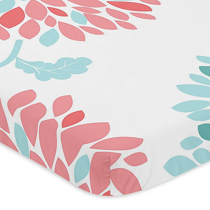 Alternate image 1 for Sweet Jojo Designs® Emma Fitted Mini-Crib Sheet