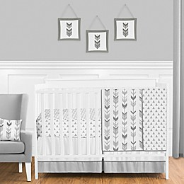 Sweet Jojo Designs® Mod Arrow Crib Bedding Collection in Grey/White