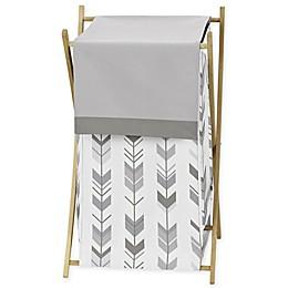 Sweet Jojo Designs® Mod Arrow Shower Laundry Hamper in Grey