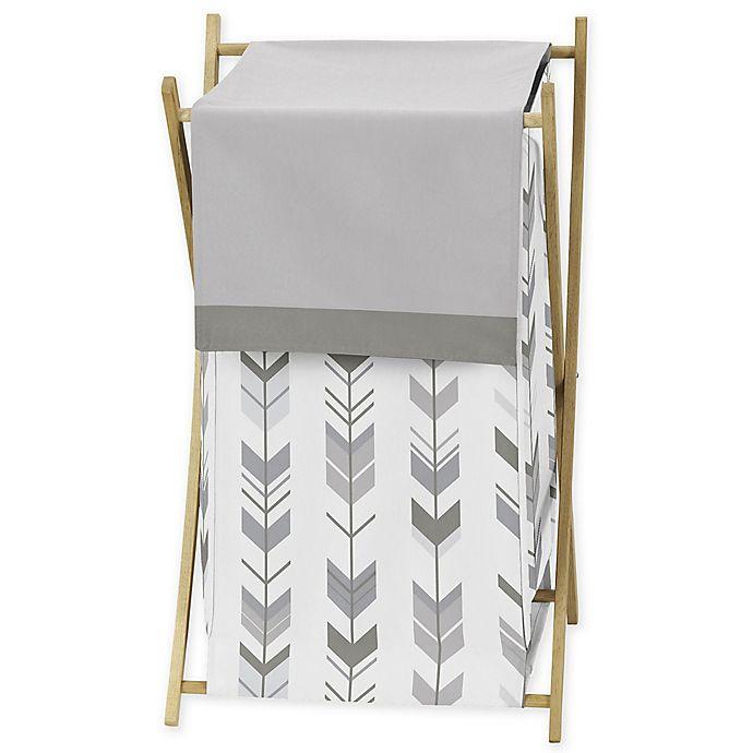 Alternate image 1 for Sweet Jojo Designs® Mod Arrow Shower Laundry Hamper in Grey