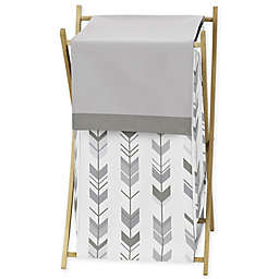 Sweet Jojo Designs® Mod Arrow Shower Laundry Hamper in Grey
